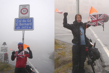 At the top of the St. Bernard Pass
